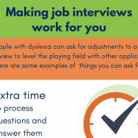 Job interview adjustments for dyslexic applicants