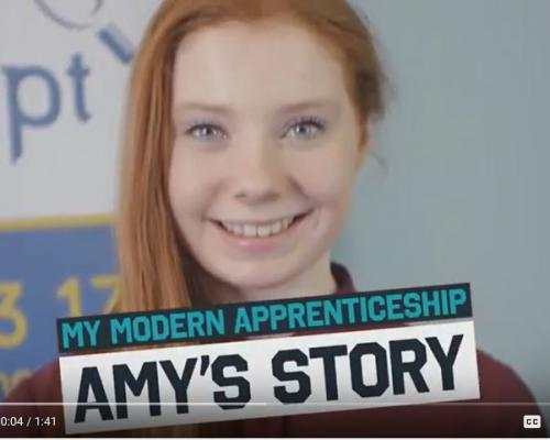 Modern Apprentice Amy speaks up about dyslexia